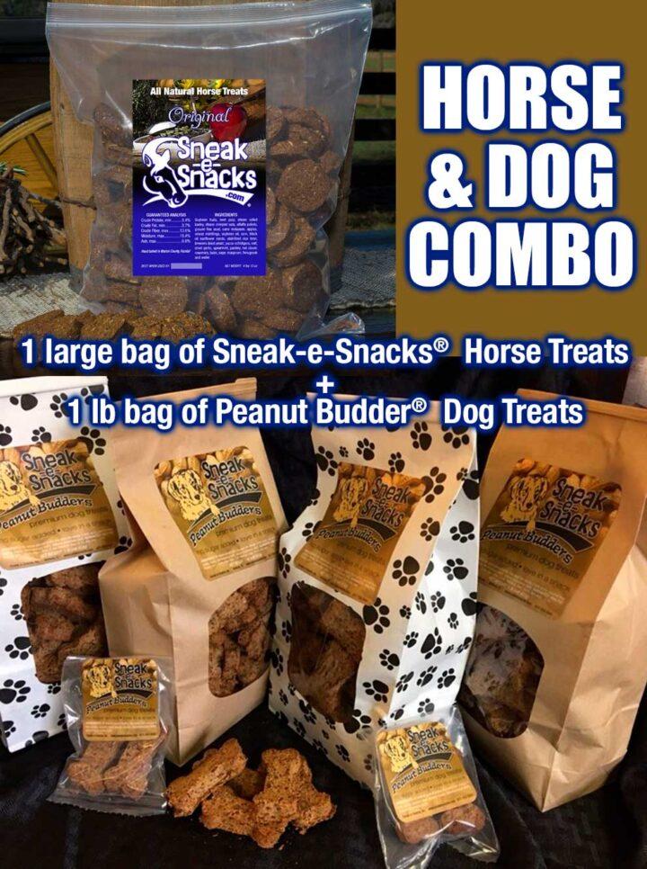 Sneak-e-Snacks Horse Treats and Peanut Budder Dog Treats Combo